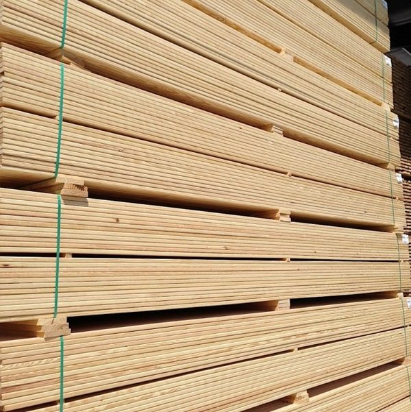 Siberian Larch Decking - Smooth Profile b