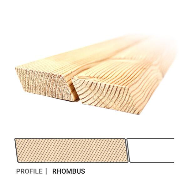 Siberian-Larch-Cladding-Profile-Rhombus-Profilis